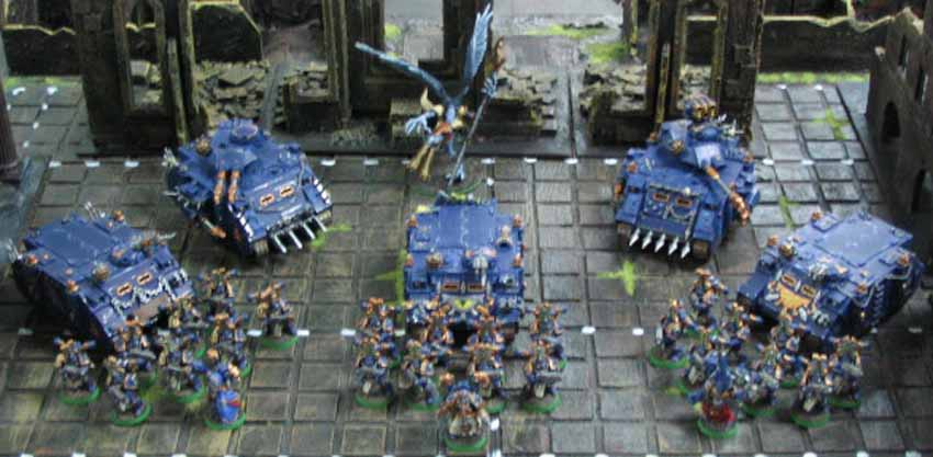 The War Host assembled before battle